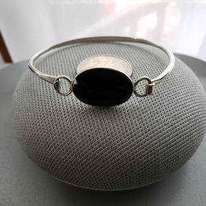 Jewelry - Sterling Silver Black Onyx Bangle Bracelet